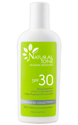 Natural Tone Organic Skincare SPF 30 (NEW Lighter Feel)
